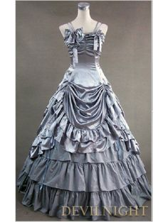Luxuriant Sliver Sleeveless Gothic Masquerade Victorian Dress