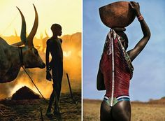As fotógrafas Carol Beckwith e Angela Fisher possuem uma vivência de mais de 30 anos do registro de cerimônias, rituais e cotidiano de povos tribais africanos, o que fez com que suas imagens refletissem uma longa e profunda relação de respeito com os costumes e as pessoas dessas tribos, especialmente a Dinkas, no Sudão