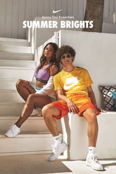 Go bold this summer with hot pops of eye-catching color. Shop the look on Nike.com Photoshoot Concept, Photoshoot Ideas, Nike Benassi Duo, Bridesmaid Dresses 2018, Minimal Look, Nike Classic Cortez, Beauty Around The World, Nike Air Max Plus, Sportswear