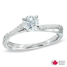 0.75 CT. T.W. Celebration 100™ Canadian Diamond Engagement Ring in 18K White Gold (I/SI2)  - Peoples Jewellers