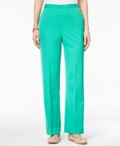 Alfred Dunner Montego Bay Petite Pull-On Pants - Green 16P
