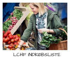 LCHF indkøbsliste - se her hvad du skal købe ind til din LCHF livsstil. Gratis LCHF indkøbsliste.