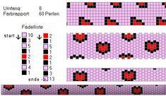 Mesh łańcuchy Crochet - Patterns Biblioteka: herzen_quer