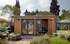 small prefab living – Modern Cabana Tiny House Blog, Modern Tiny House, Modern Cottage, Backyard Studio, Backyard Sheds, Small Cottages, Cabins And Cottages, Small Modular Homes, Small Homes