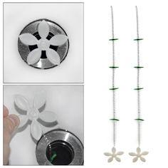 4 개/몫 꽃 부엌 하수 욕조 머리 청소 도구 체인 드레인 청소기 바닥 가발 청소 제거 안티 막힘 도구
