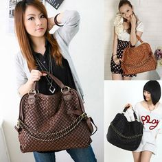 Weaved leather handbag, wear 3 ways 23.98 @ everyday-retail.com free standard shipping