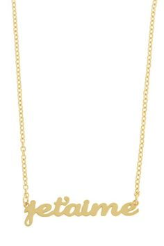 Je T'aime Word Necklace on HauteLook