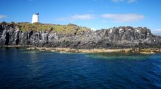 The Isle of May, Scotland, viewed from the May Princess, sailing in the Firth of Forth to the island from Anstruther.