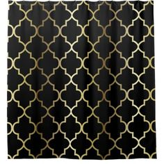 black white gold shower curtain. Black And Gold Quatrefoil Pattern  DIY Color Shower Curtain White Glitter Herringbone Chevron On Nude Cream