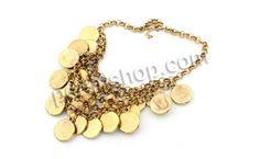 Zinklegierung Schmuck Halskette, mit Verlängerungskettchen von 2Inch, antike Goldfarbe plattiert, Rolo Kette, frei von Nickel, Blei & Kadmiu...