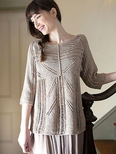 Lace Pullover Free Knitting Patterns | In the Loop Knitting