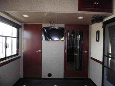 "2016 New Heartland Road Warrior 415 Fifth Wheel in Texas TX.Recreational Vehicle, rv, 2016 Heartland Road Warrior415, 23 Cu Ft Refer w/ Dual Batteries & Inverter, 3 Season Removable Garage Wall, 32"" Garage TV , 3RD 15.0 BTU A/C, Auxiliary Fuel Cell, Ramp Door Patio w/ Rear Electric Awning, Road Warrior Package, RT Package, RVIA Seal,"