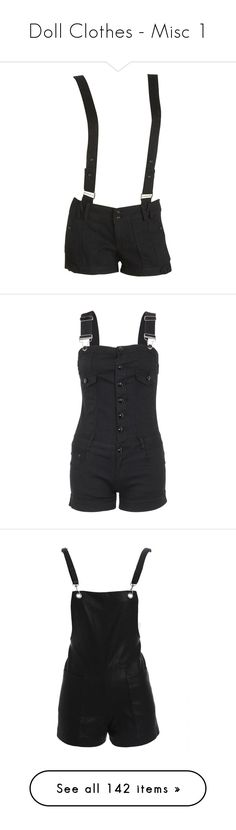 """Doll Clothes - Misc 1"" by nikki-kersey ❤ liked on Polyvore featuring shorts, bottoms, pants, short, wet seal, wet seal shorts, faux-leather shorts, pocket shorts, short shorts and jumpsuits"