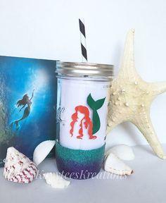 Under the Sea// Little Mermaid tumbler// by KayyteesKreations