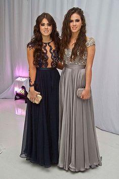 Paulina y Nicole Peña roban miradas en la graduación de Sofía Castro