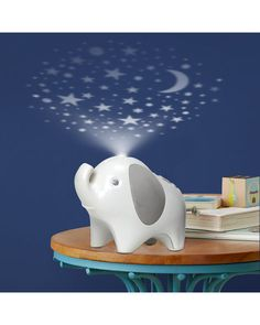 Skip Hop Moonlight & Melodies Crib Soother and Baby Night Light, Elephant Nursery Themes, Nursery Room, Girl Nursery, Baby Room, Nursery Colours, Dumbo Nursery, Star Nursery, Nursery Ideas, Bedroom