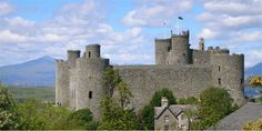 """Harlech Castle: """"It was into these mountains that Glyn Dwr disappeared after the tragedy at Harlech. He was almost a broken man by then, broken by Gilbert Talbot who prosecuted the siege, who took away the wives and daughters of Owain and his followers and starved his many comrades to death."""" p. 269"""