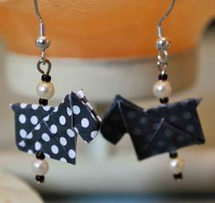 Origami Scottie Dog Earrings by ThePaperMulberryTree on Etsy, $15.00