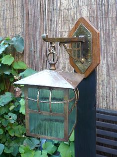 Pr Of Arts And Crafts Wall Lanterns With Brackets