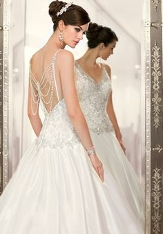 Vintage-inspired Luxe Taffeta designer wedding gown featuring a waterfall of pearls and jewels from Essense of Australia (Style Hope's Bridal Essense Of Australia Wedding Dresses, Wedding Dresses 2014, Wedding Gowns, Lace Wedding, Elegant Wedding, Mermaid Wedding, Elegant Gown, Bridesmaid Dresses, Elegant Bride