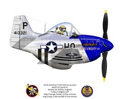 Here is another Mustang I completed just in time for the Planes of Fame airshow. This one is the in which Maj. George Preddy shot down 6 in one mission. He also bagged 3 and one probable on another mission in this same aircraft. Airplane Humor, Airplane Art, Aviation Humor, Aviation Art, Ww2 Aircraft, Military Aircraft, Uss Tarawa, Caricatures, Cartoon Plane