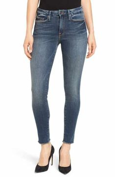Good American Good Legs High Rise Skinny Jeans (Blue 005) Size 25