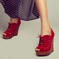WARNING: Being 'Hot and Bothered' is a side effect of wearing these wedges. #newstyles #fall