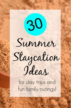 30 Summer Staycation Ideas |  #Step2Ambassador #ad | Get 30 ideas to spark a fun summer staycation!