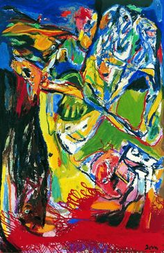 Asger Jorn (1914-2003)  was a Danish painter, sculptor, ceramic artist, and author. He was a founding member of the avant-garde movement COBRA and the Situationist International.