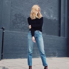 black and denim | style | outfit | HarperandHarley