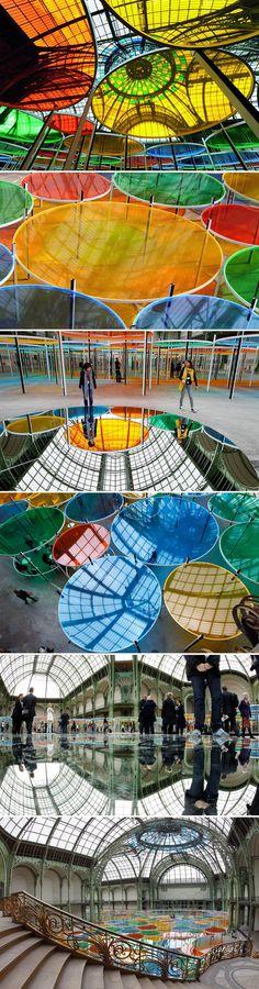 Excentrique(s) by Daniel buren for Monumenta 2012 - Grand Palais, Paris