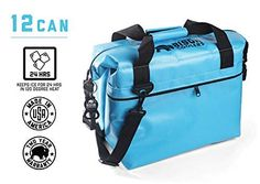 BISON COOLERS 24 Can Softpak Portable Cooler Portable Insulated Soft Ice Cooler Bag Perfect for Hiking Camping Sports Picnics Fishing RoadBeach Trips Blue *** For more information, visit image link. (This is an affiliate link) Soft Cooler, Ice Cooler, Ice Packs For Coolers, Coolest Cooler, Soft Sided Coolers, Packing A Cooler, Bison, Hiking
