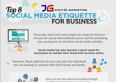 Social media etiquette for business. Social Media Marketing, Digital Marketing, Social Media Etiquette, Ecommerce, Improve Yourself, How To Become, Business, Infographics, Internet