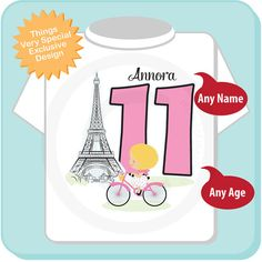 Eleventh Paris Birthday Shirt Pink 11 By ThingsVerySpecial On Etsy 11th
