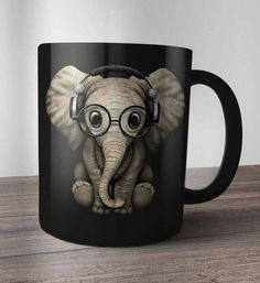 Elephant coffee mug Elephant Love, Elephant Art, Elephant Stuff, Elephant Mugs, My Coffee, Coffee Cups, Stars Disney, Cute Cups, Cool Mugs