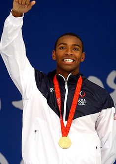 When he first started swimming, Cullen Jones' dad was disappointed because he wanted his son to play basketball. Jones won an Olympic gold medal as part of the US' 4-man relay along with Michael Phelps. He now works to teach kids how to swim through the USA Swimming Foundation's Make a Splash initiative. What a great American!