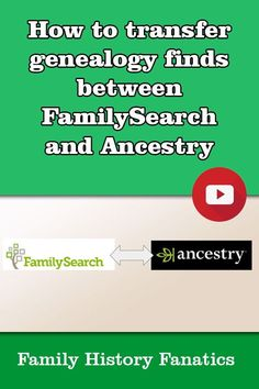 How do you transfer your genealogy from FamilySearch to Ancestry and back again? How do you transfer your genealogy from FamilySearch to Ancestry and back again?
