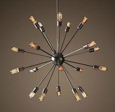 Edison bulb chandelier design ideas sputnik chandelier mid century moder decor