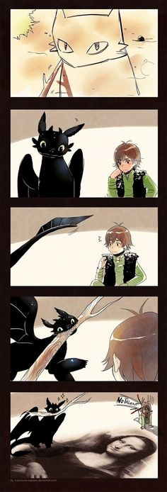 Short fanart commic about toothless and hiccup from tumblr