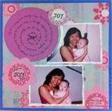 Image detail for -Scrapbooking layout on a woman holding onto her baby niece, Joy.
