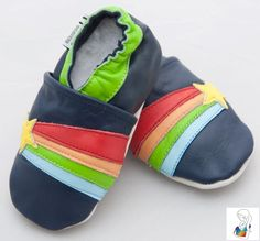 Soft soled leather shoes for the special little feet in your life.  Manufactured in China overseen by a passionate Aussie expat WAHM.  Price includes regular shipping.
