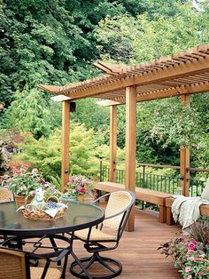 a9dc4e5bae439b357ff9ceb5eda81372 deck benches deck pergola amazing pergola that covers the 16x16 2nd level deck area these,Better Homes And Gardens Deck Design