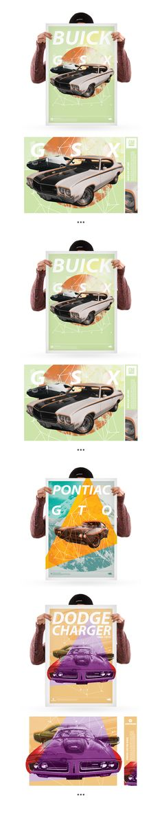 Muscle cars poster series