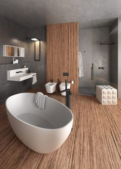 Open Bathroom, Diy Bathroom, Bathroom Toilets, Bathroom Design Small, Bathroom Interior, Master Bathroom, Dream Home Design, Modern House Design, Relaxing Bathroom