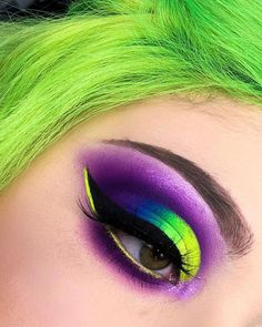"Edwige on Instagram: ""✨ NEON DREAM ✨ - @anastasiabeverlyhills @norvina RIVIERA PALETTE - CANNES @blushtribe NEON DREAMS REVAMPED EYESHADOWS PALETTE - NADIA,…"" #EyeMakeupCutCrease Eye Makeup Cut Crease, Bright Eye Makeup, Purple Eye Makeup, Colorful Eye Makeup, Makeup For Green Eyes, Colorful Eyeshadow, Neon Eyeshadow, Eyeshadow Looks, Eyeshadows"