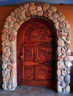 An inviting door into the bistro & wine shop Cool Doors, Unique Doors, Stairs Window, Doorway, Things To Do In Kelowna, Summer Hill, Knobs And Knockers, Door Gate, Entrance Doors