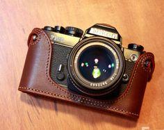 Nikon FM2 leather cameras case Nikon Camera Case by CamerasBagShop