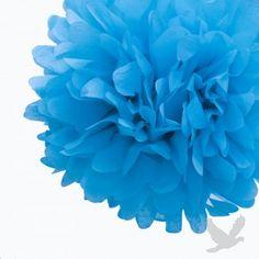 #blue #wedding Cornflower Blue Tissue Paper Pom Poms BULK