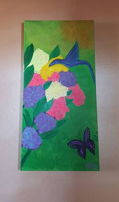 Hummingbird and butterly.  Check out this item in my Etsy shop https://www.etsy.com/listing/244010587/hummingbird-and-butterfly