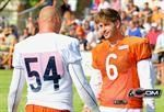 7/27/12 - Brian Urlacher and Jay Cutler chat on the sideline near the end of practice